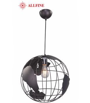f0fc494b7e Zhongshan lighting factory Earth iron pendant lamp matte black industrial  vintage light