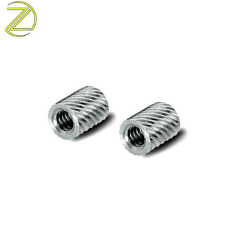 metal screw inserts m4 self tapping pem press fit threaded inserts for plastic parts