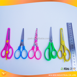 Kids Colorful Plastic Safety Training Student Scissors Paper Cutter Children Scissors