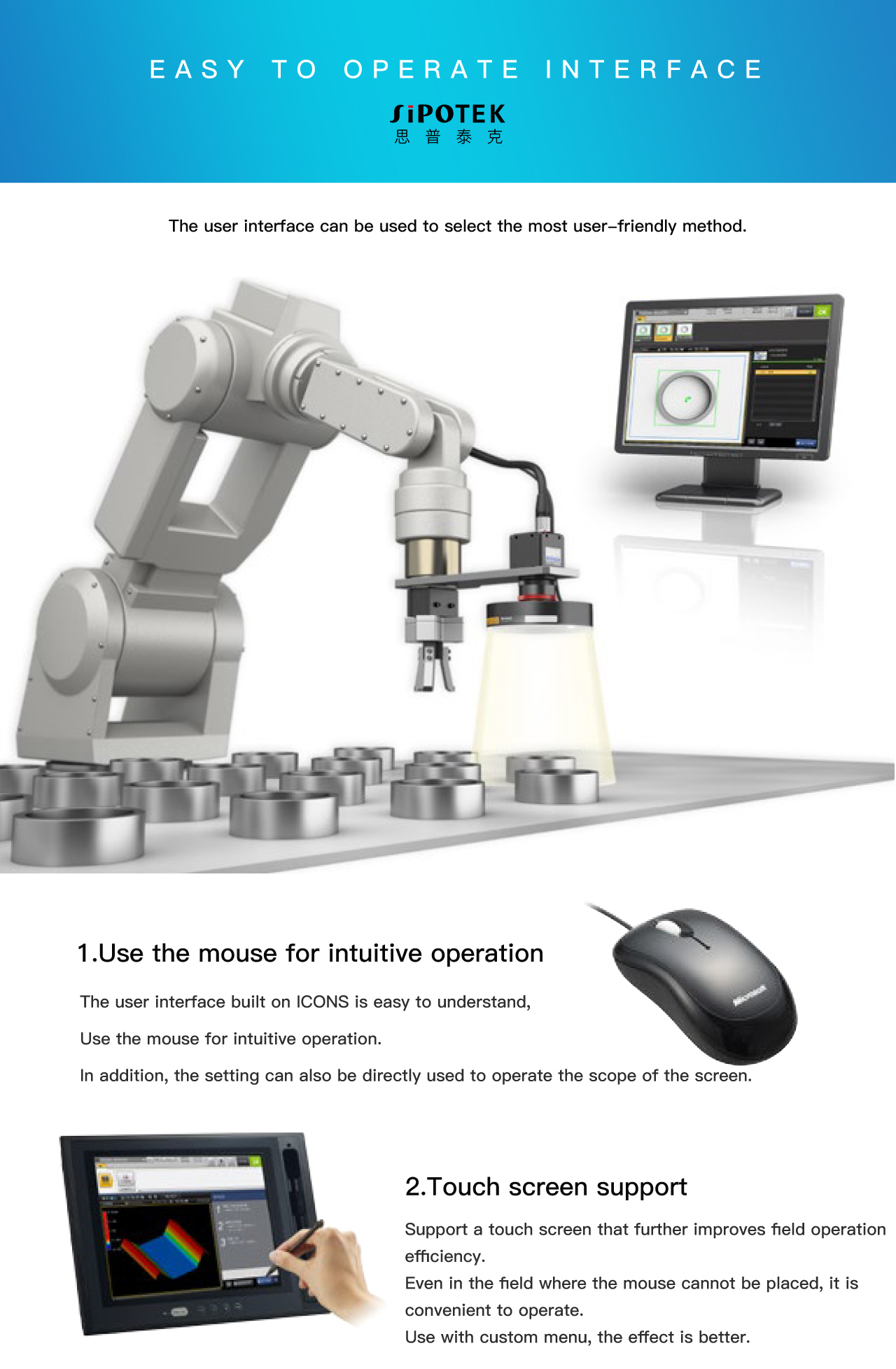 Integration Smart 2D Vision Machine Camera Systems For O Sealing Ring Dimension Measurement