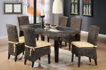Indoor Rattan Dining Table And Chairs