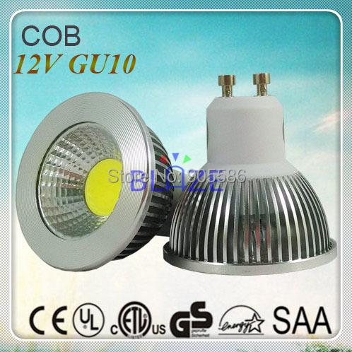 dc 12v gu10 cob led light bulbs ampoule 5w 450lm 3000k 4000k 6000k 54mm reflector lighting 50pcs. Black Bedroom Furniture Sets. Home Design Ideas