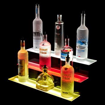 3 Tier Led Liquor Shelf Display Stand