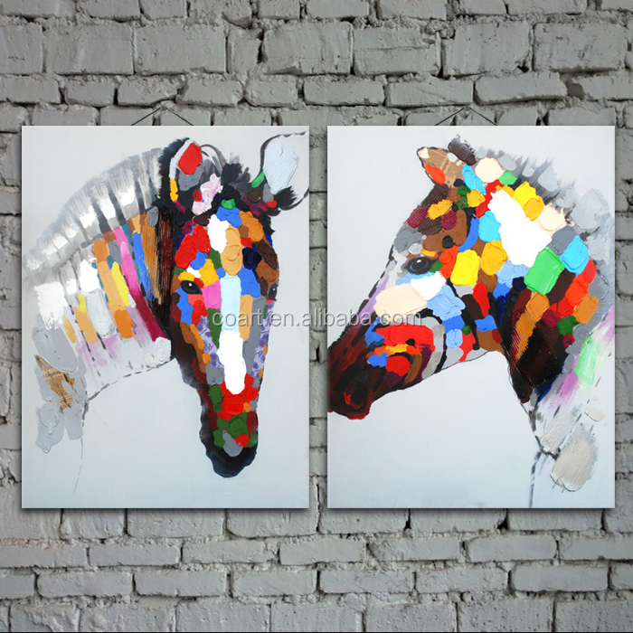 Handpainted Abstract Horse Head Painting On Canvas Buy