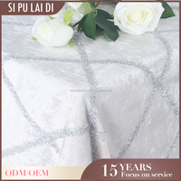 China polyester wholesale luxel banquet home embroidery 90 white round tablecloths for weddings