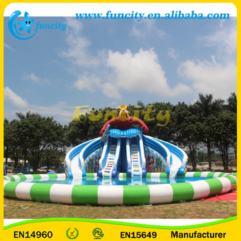 Commercial Inflatable Swimming Pool Portable Water Park On Land