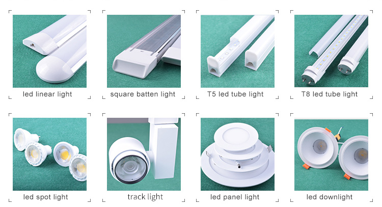 Aluminum and PC industrial tube light fittings
