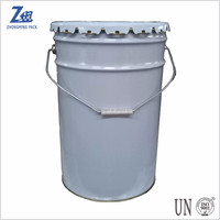 5 gallon tin pail for packaging water based paint and solvent based paint,20 litre metal bucket,paint drum with lug lid