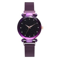 Hot sell Luxury Women Watches Ladies Magnetic Starry Sky Clock Fashion Diamond Female Quartz Wrist watches
