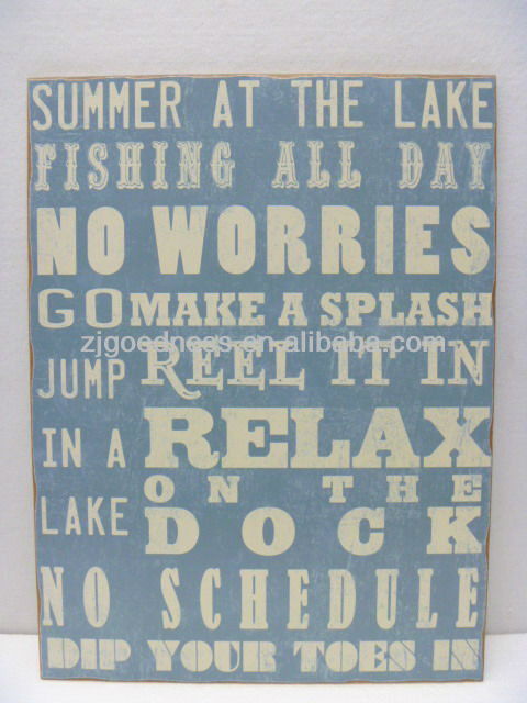 HOT SALE 18''X24'' VINTAGE WORDING WOODEN SIGN WITH SAYING