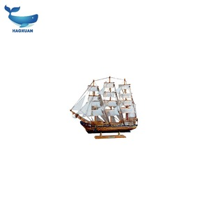 QDGY0039 HAOXUAN 2018 Sailboat Craft Boat Decoration Wooden Model Ship