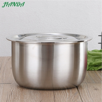 304 Stainless steel kitchen Tool Tableware utensil thermal servilg food salad mixing bowl with lid Safety for food