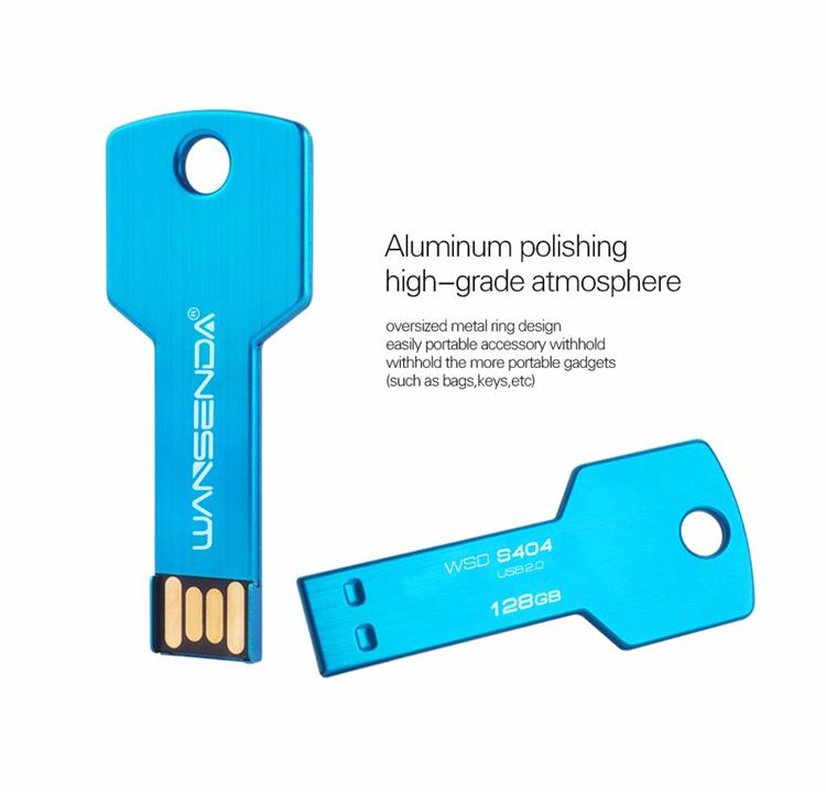 Custom Printed Flash Drive Promotional Key Shape Usb