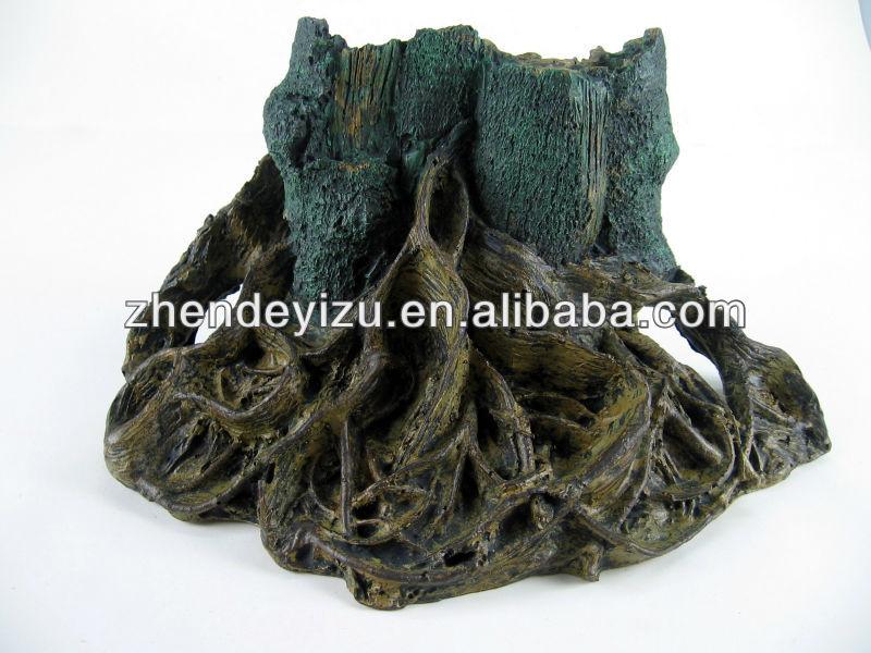 polyresin madera flotante artificial raz para acuario paisajismo adornos