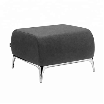 black short leather ottoman footstool foot stool