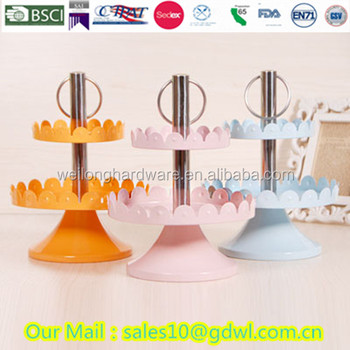 2 Tier Metal Cake Fruit Plate Stand Hardware Rod Plate Stand cake decorating tools with handle  sc 1 st  Alibaba & 2 Tier Metal Cake Fruit Plate Stand Hardware Rod Plate Stand Cake ...