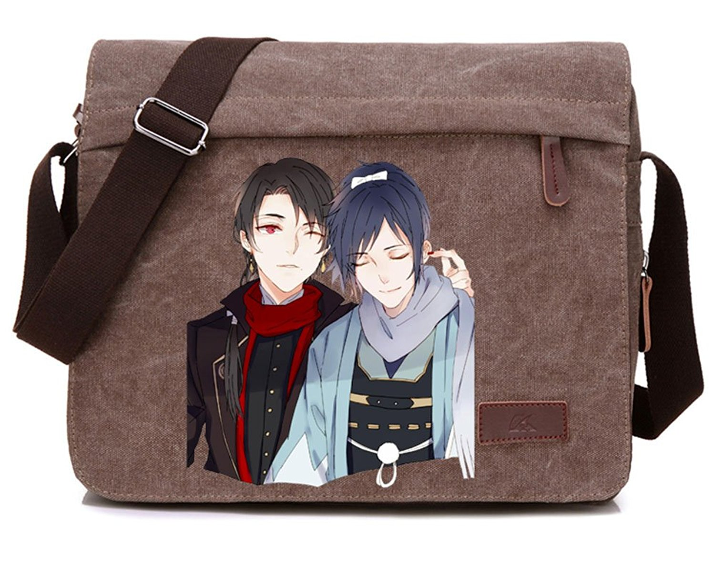 de75c10a2f Get Quotations · Gumstyle Touken Ranbu Online Anime Cosplay Canvas  Messenger Bag Laptop Bags Schoolbag for Boys Girls