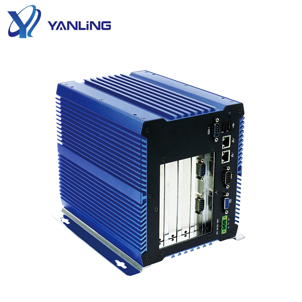 Industrial Fanless mini pc 704 with 1037U external 4 PCI express slot support XP system embedded computer onboard 4GB Ram фото