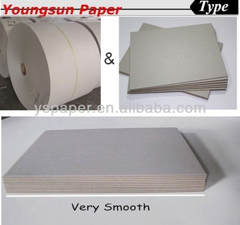 350gsm grey bag paper for handle bag waste paper board