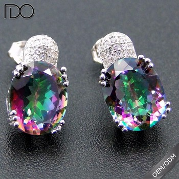 Factory price custom zircon earrings for young women