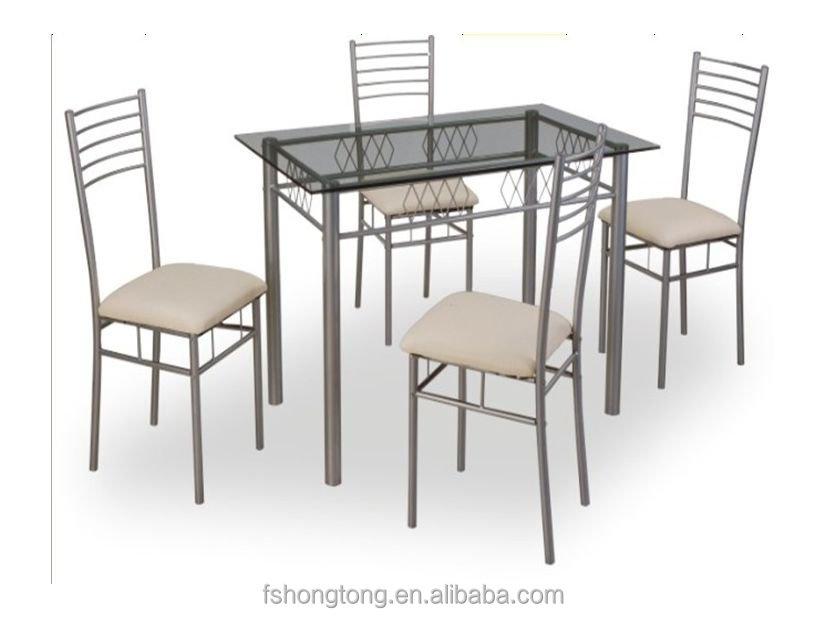 juego de comedor de vidrio china de metal juego de comedor