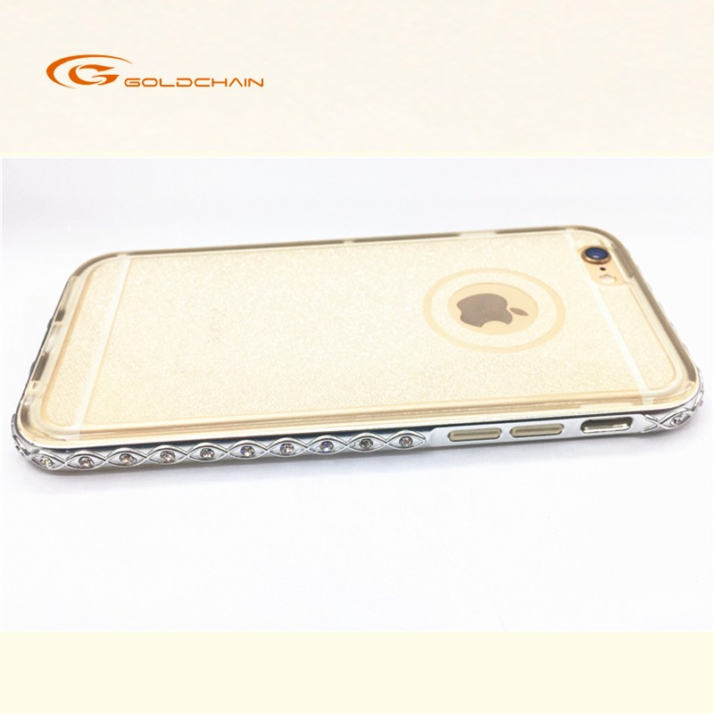 GC diamond clear tpu mobile phone case back cover for cell phone