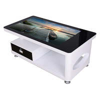 43 inch Touch the coffee table lcd player advertising display/led video display
