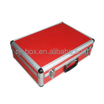 Red Aluminum Carrying Case for Instrument