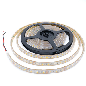 2018 new hot sale 12V 60Leds 5050 Warm White LED Strip Double Raw IP67 Waterproof