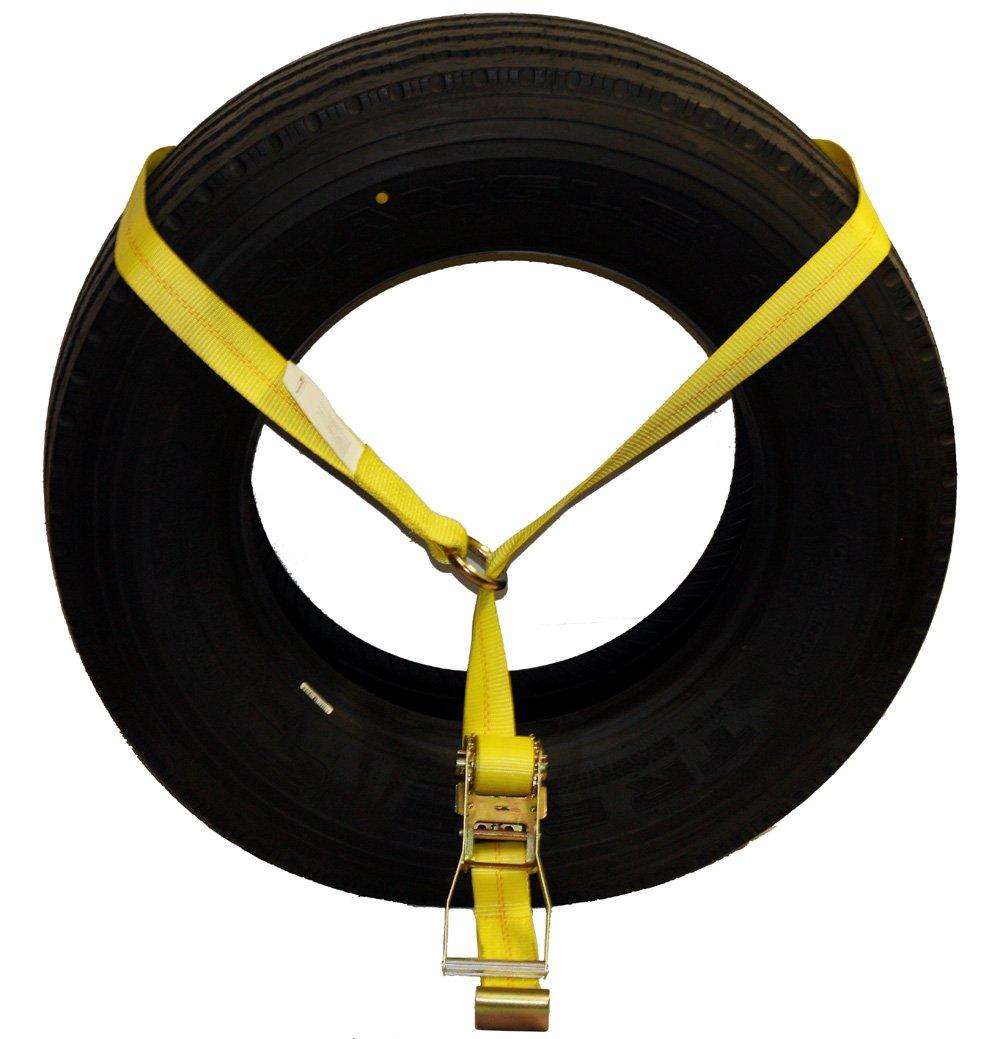 WINGONEER Hd Strap Ratchet Tie Down w// double j Hook Truck towing Cargo hauling Orange WINGONEER®