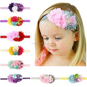 Free Shipping Baby Girl Diamante Rhinestone Triple Grosgrain Flower  Headbands be8f2e5c897d