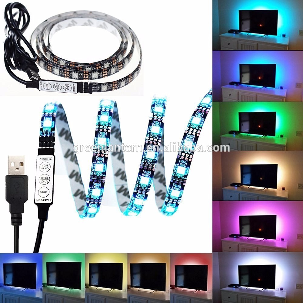 white 3528 waterproof strip and 50cm 3528 non-waterproof 5Vdc USB strip Cable LED strip light for Christmas Flexible led Stripe