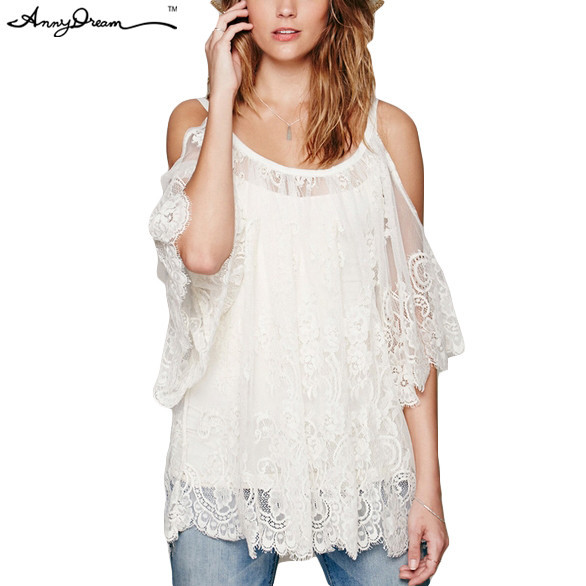 b9638a1d84958 2015 Female O-Neck Lace Floral Print Mini Dress Women Off Shoulder Pullover  See-through Effect Sexy White Dresses WZQZDX048