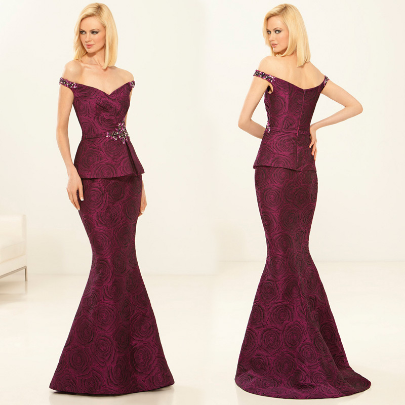 28a37bf12fe Buy Glamorous Claret Mother Of The Bride Dresses Long Off Shoulder Mermaid Formal  Gown For Wedding Party Vestido Mae Da Noiva XMD79 in Cheap Price on ...