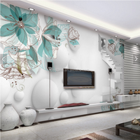Wholesale 3D Wallpaper/Wall Mural for TV Backgroud/Living Room Interior Decoration