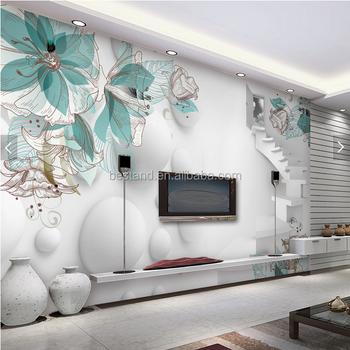 wholesale 3d wallpaper wall mural for tv backgroud living room