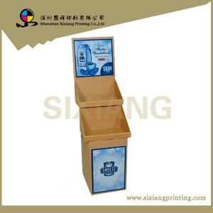 Design and Printing POS Corrugated Retail Cardboard Coffee Display Shelf