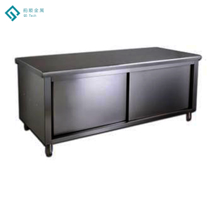 Seamless Welding Removable Stainless Steel Work Bench Cabinet