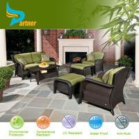 Outdoor Newport Wicker Patio 6 Piece Deep Seating lazy susan outdoor furniture