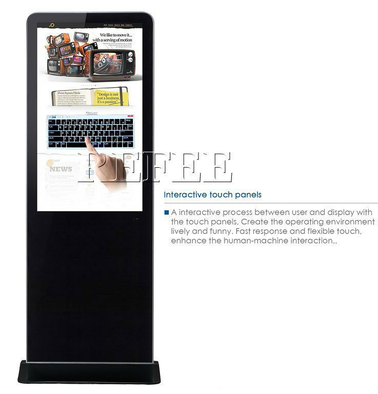 55'' android wifi digital signage <strong>advertisements</strong> wifi & touch screen digital signage totem