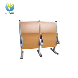 wooden plywood lecture room hall furniture seating chair with desk