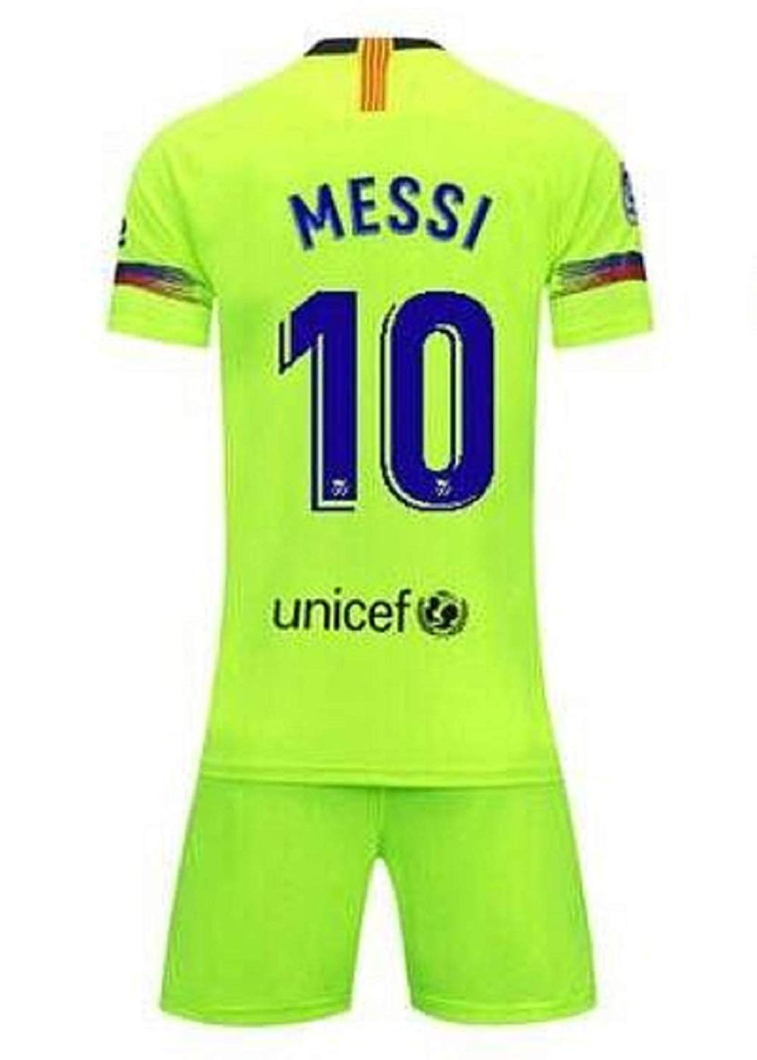 e5143f07e Get Quotations · Lakivde Kids Messi New Away Jerseys 18-19 Barcelona  10  Football Jersey Soccer Jersey