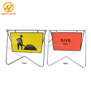 Portable Quality Road Safety Traffic Controller Swing Stand Signs