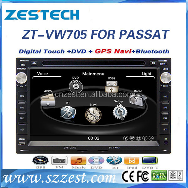 7 inch car dvd gps for VW Passat B5 accessories multimedia player navigation system with Rearveiw camera Parking sensor BT