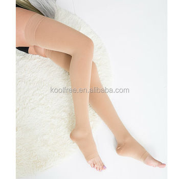 Micro Fiber Graduated Medical Open Toe Compression Stockings