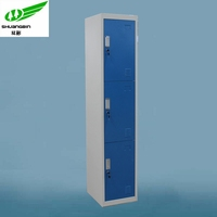 Metal blue narrow cloth cabinet/Cyber lock for locker