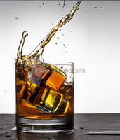 L.F.K Direct Factory! Dice ice cubes whisky stone ,Stainless Steel Whiskey Stones LFK-IC01