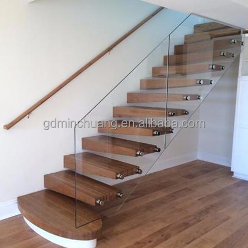 Solid Wood Handrail Wall Mounted Floating Stairs Staircase Product On