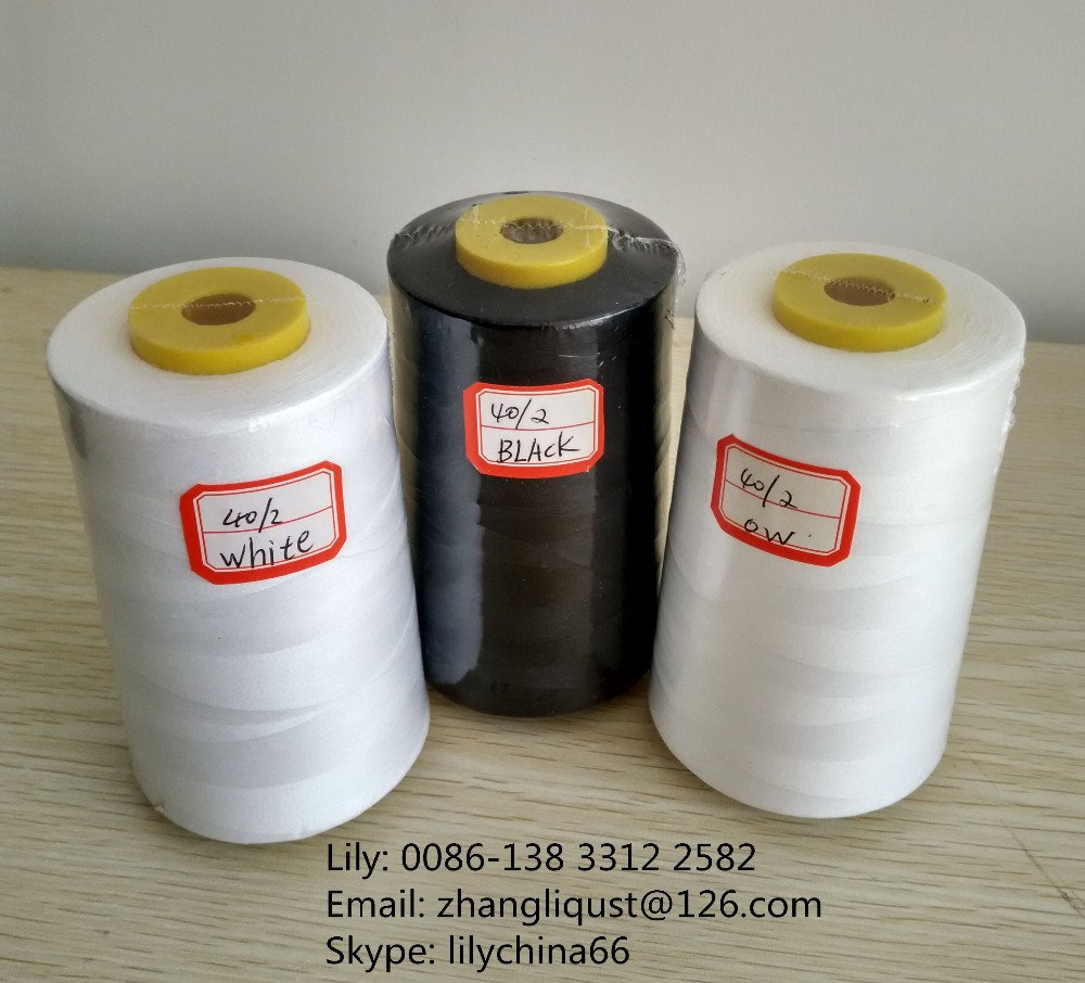 lubricant knotless 100% spun polyester sewing thread 40s/2 5000y