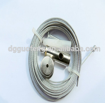Stainless Steel Wire Rope Suspension Cable System With Cable Gripper ...